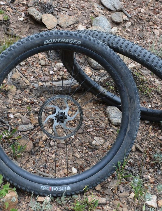 Bontrager's XR4 Expert 2.4in tires come in 27.5in and 29in versions