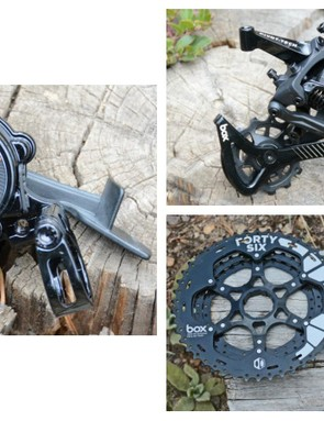 Box Components' One drivetrain propels with 11 gears, a clutch rear derailleur and a unique shifter
