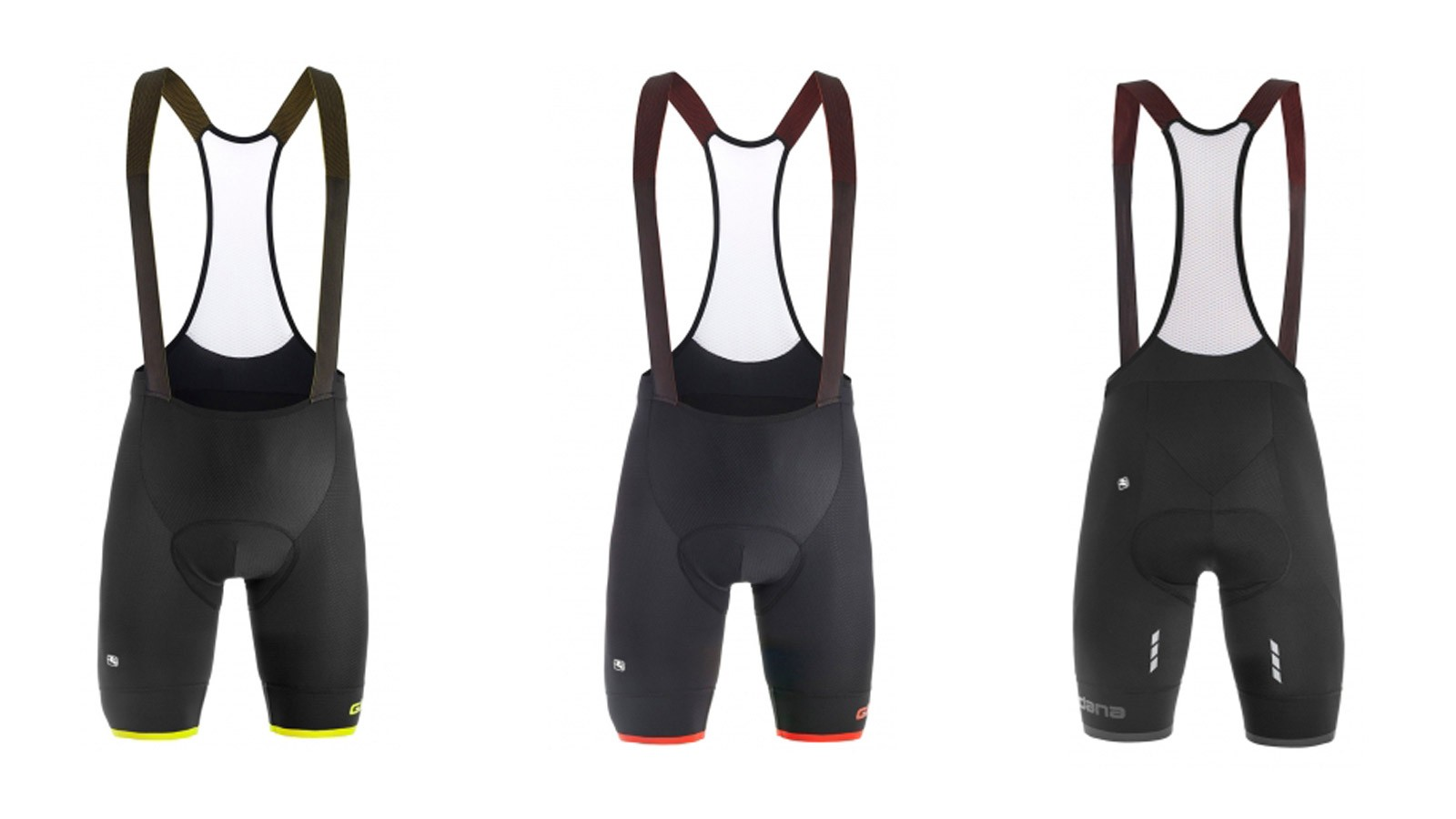 Giordana's Sahara bib shorts come in three colorways and Small - XX-Large sizes