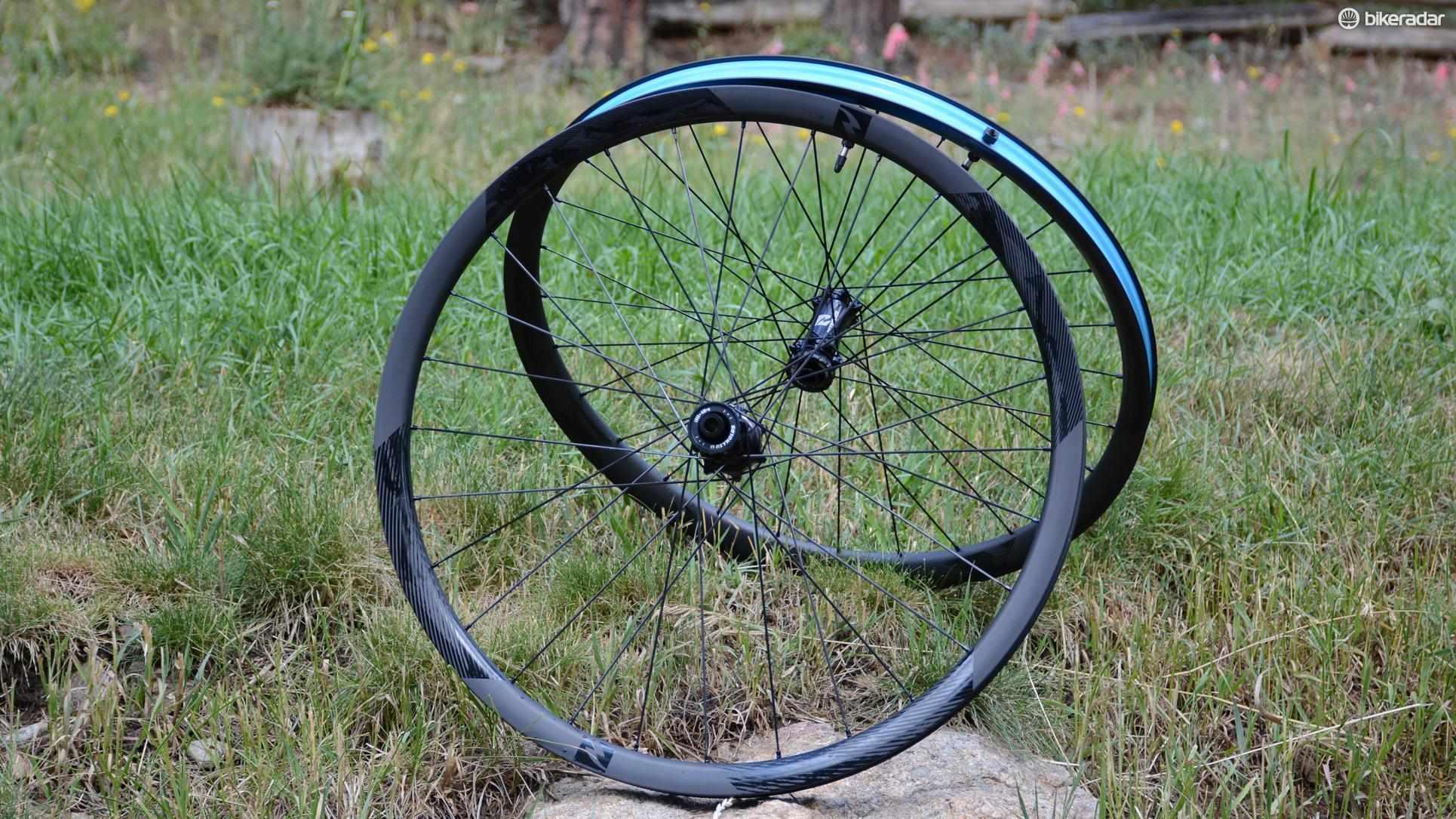 Reynolds' Blacklabel Enduro 27.5 wheels have 28mm wide rims and Industry Nine Torch hubs
