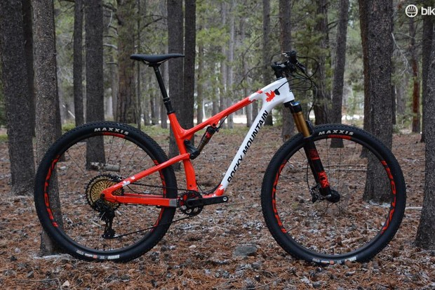 This is Rocky Mountain's 2017 XC race bike, the Element 999 RSL