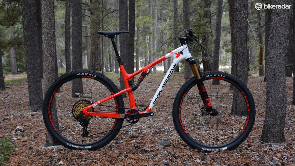 This is Rocky Mountain's top XC race bike, the Element 999 RSL