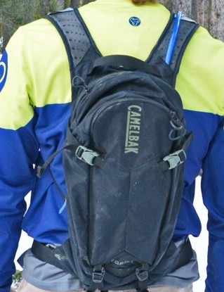CamelBak's Toro 14 pack holds three liters of water and has integrated back protection