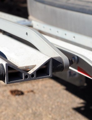 Beefy aluminum extrusions lend plenty of stiffness to the trays
