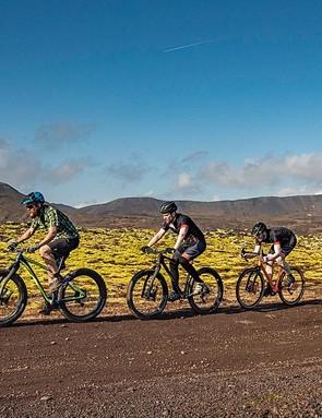 The Lauf family, covering mountain bikes, fat bikes, and now gravel bikes