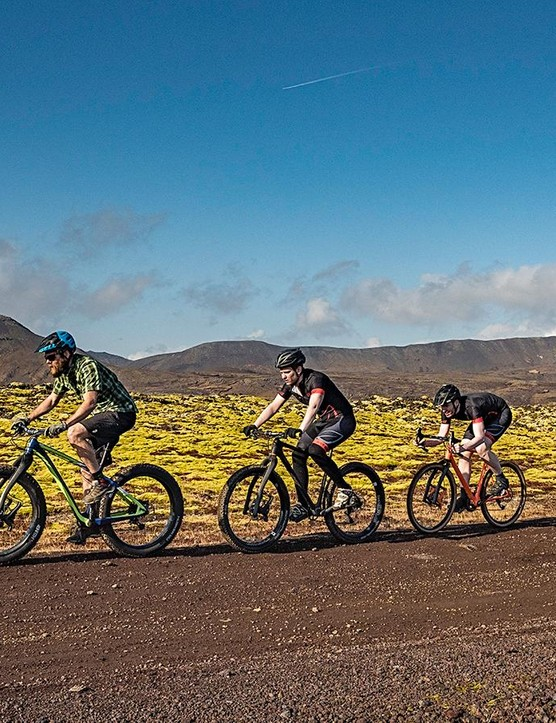 The Lauf family, covering mountain bikes, fat bikes, and now gravel bikes