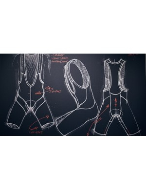 More traditional bib shorts are constructed as a garment first, with the chamois added later