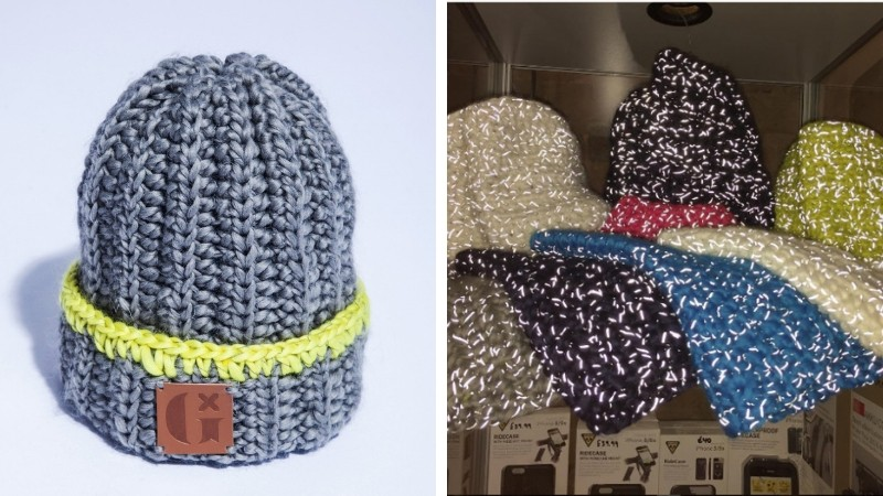 Regular beanie or snood by day, and safety gear by night