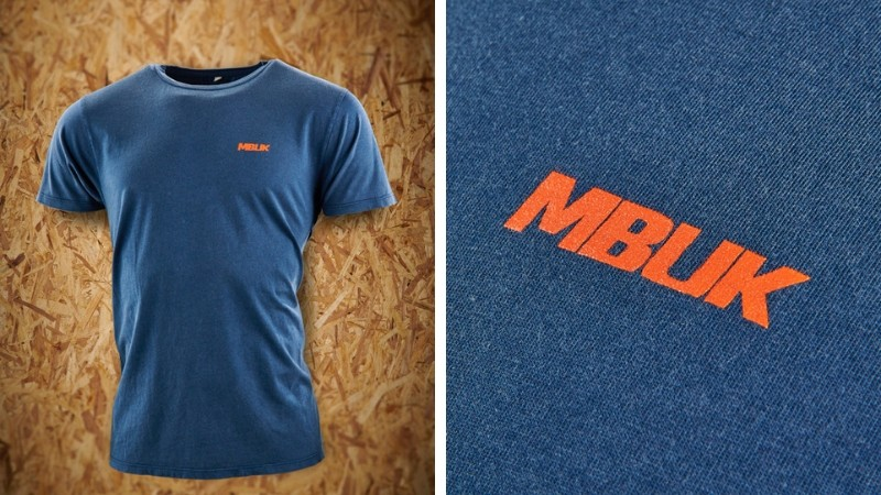 The limited edition blue MBUK logo T-shirt is a perfect addition to anyone's wardrobe