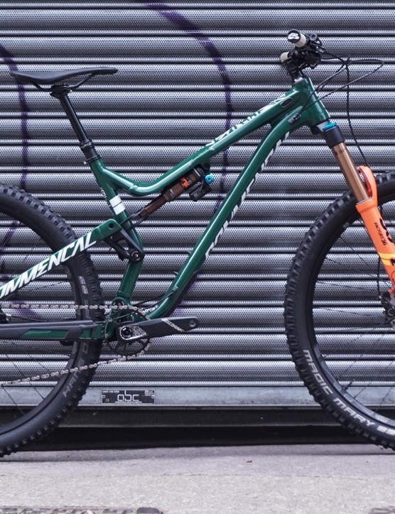 Commencal's British Meta TR gets a burlier fork and British Racing Green paint job