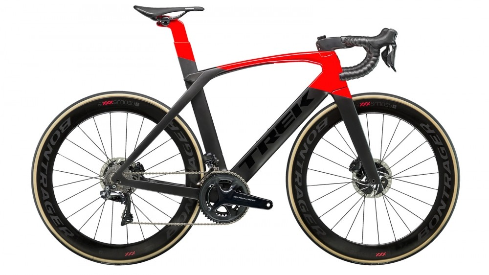 This is Trek's first aero bike with disc brakes, the Madone SLR 9 Disc