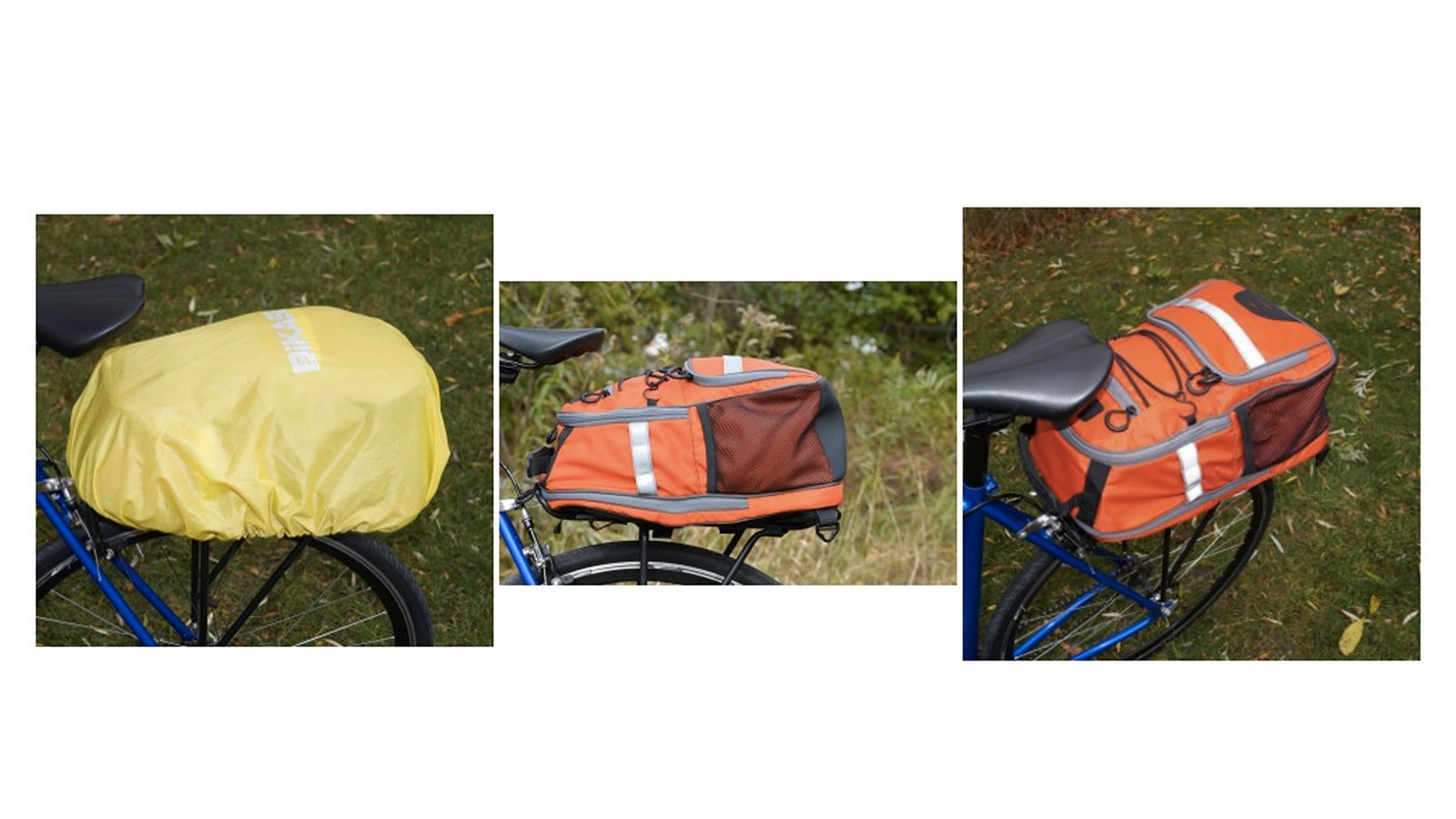 In addition to being a backpack, the Outlier can also be a trunk bag and a pannier
