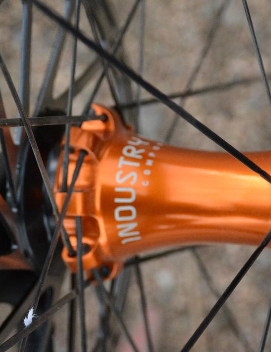 Svelte and minimalistic, I9's front hub with 12mm thru-axle is cleanly executed