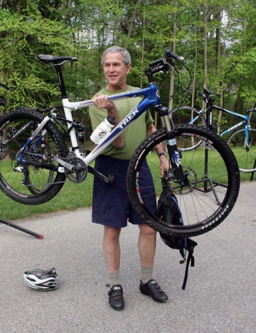 Bush shows off his Trek ste
