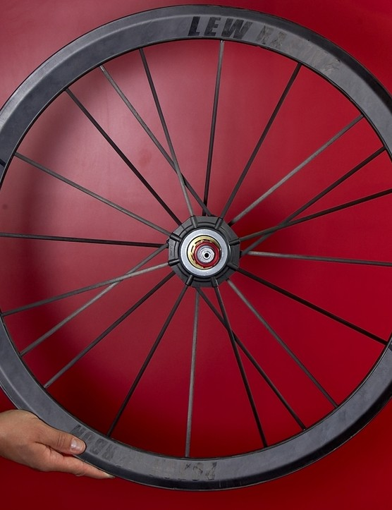 Lew Racing Pro VT-1 wheel. It's light.
