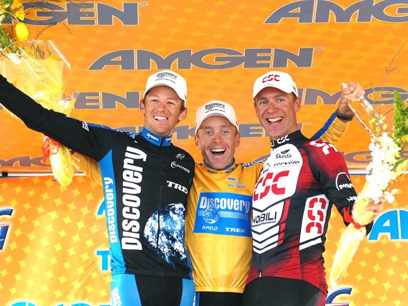 The final 2007 Tour of California podium.