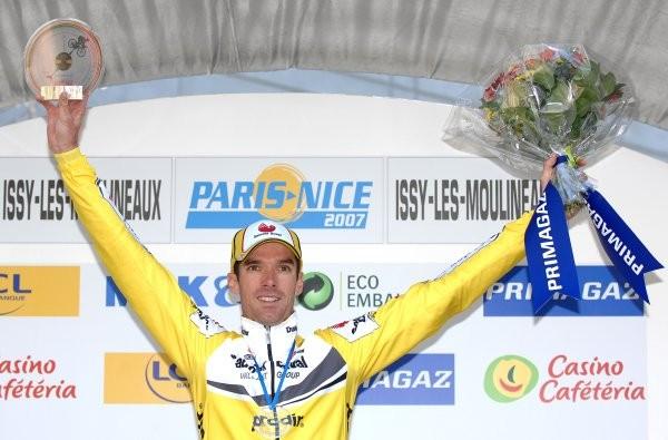 Cycling : Paris - Nice / Prologue Podium / MILLAR David (Gbr) Celebration Joie Vreugde Issy-Les-Moulineaux - Issy-Les-Moulineaux (4,7 Km) Proloog / Time Trial Contre la Montre Tijdrit (c)Tim De Waele