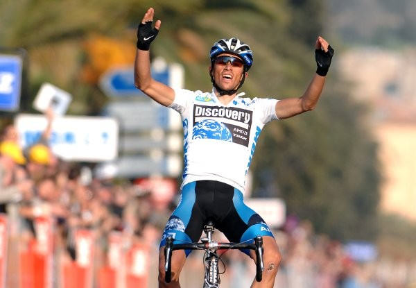 Cycling : Paris - Nice / Stage 7 Arrival / CONTADOR Alberto (Esp) Celebration Joie Vreugde / White Jersey Nice - Nice (129,5 Km) UCI Pro Tour / Stage Rit / (c)Tim De Waele
