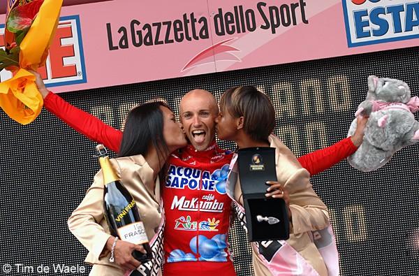Cycling: 90e Giro d'Italia / Stage 14Podium / GARZELLI Stefano (Ita) Celebration Joie Vreugde / Cantu - Bergamo (192 Km) Tour Italy / Ronde van Italie / Rit Etape / UCI Pro Tour / (c)Tim De Waele