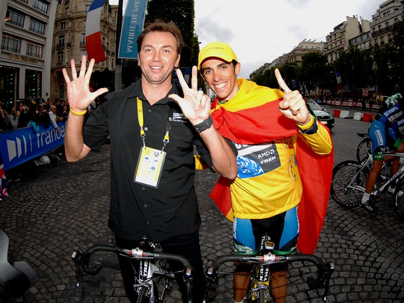 Johan Bruyneel & Alberto Contador will need more than a cape to get into the 2008 Tour