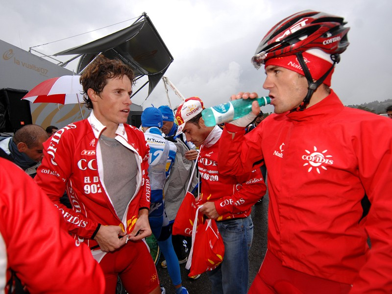 Sylvain Chavanel and Maxime Monfort