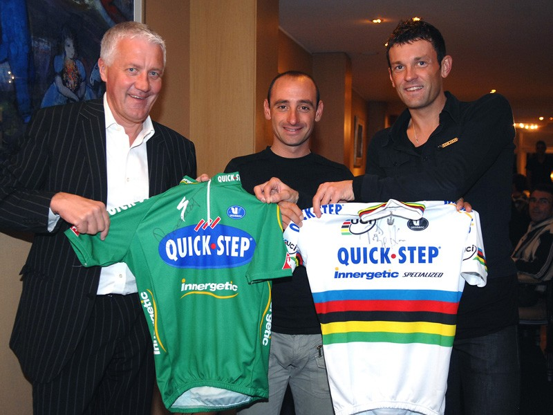 Cedric Vasseur (R) is worried about the ASO-UCI conflict
