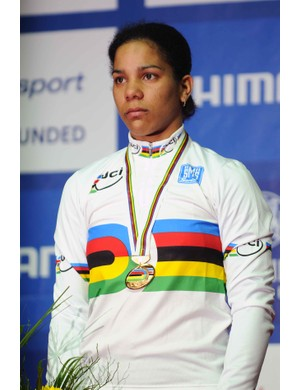 Lisandra Guerra Rodriguez, winner of the women's 500m time trial title