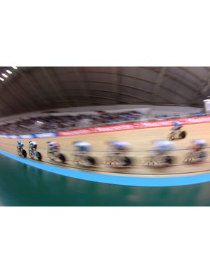 The men's scratch race was fast, furious and made for first rate sporting entertainment
