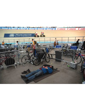 The energy and excitement of the World Track Cycling Championships was just too much for some