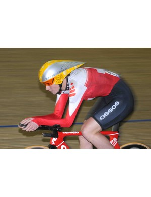 Another particularly cheezy design of helment was worn by Karin Thürig (Switzerland)