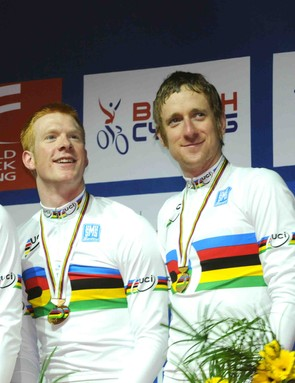 The British men's pursuit team were ecstatic at winning &  setting a new world record