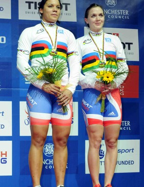 Shanaze Reade & Victoria Pendleton added to the medal haul with victory in the women's team sprint