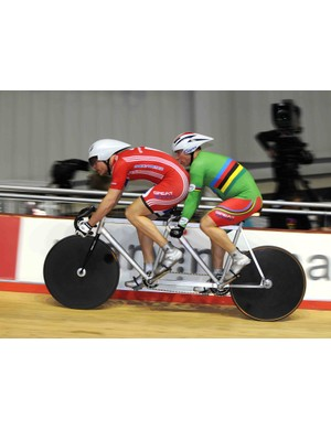 There were several paracycling events included on the evening programme