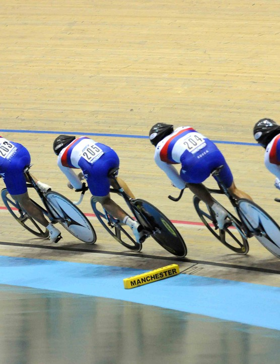 The Korean team started the qualifying rounds of the men's team pursuit and expectations were high.