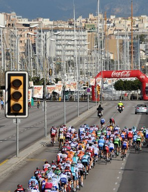 Racing along the sea front in Palma