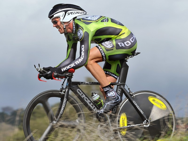 Mario Cipollini in Rock Racing kit