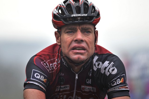 Cadel Evans, after finishing second in Fleche-Wallonne