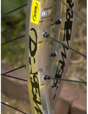 New spined ISM rims shave weight from the Deemax but also help provide a more compliant ride for fewer pinch flats.