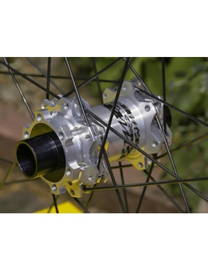 We like the new silver finish, too, although pro riders will still run bright yellow.
