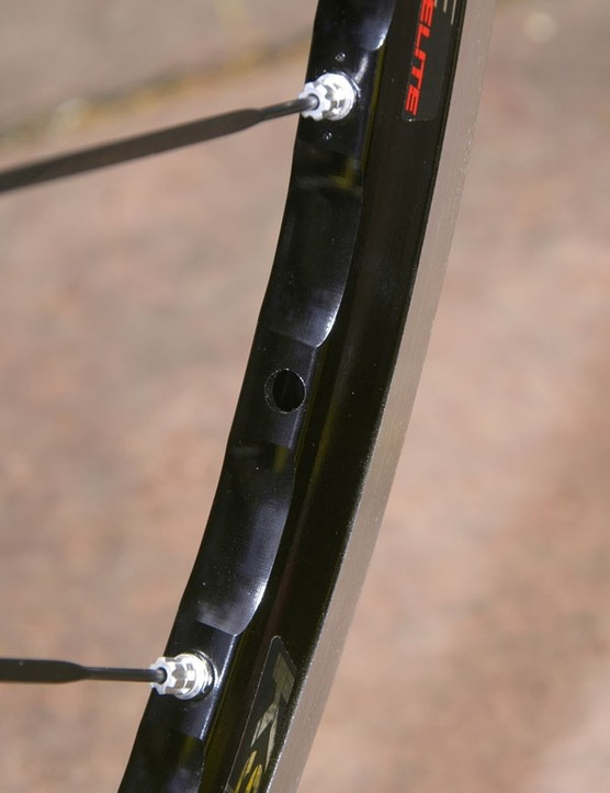 The rear rim is now asymmetrical, too, for more even spoke tension.