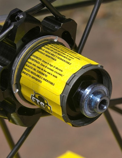 A few grams are shaved with titanium axle ends and titanium-shafted skewers.