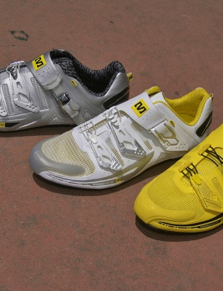 Mavic moves into the footwear market with a complete line of road and mountain models for '09.