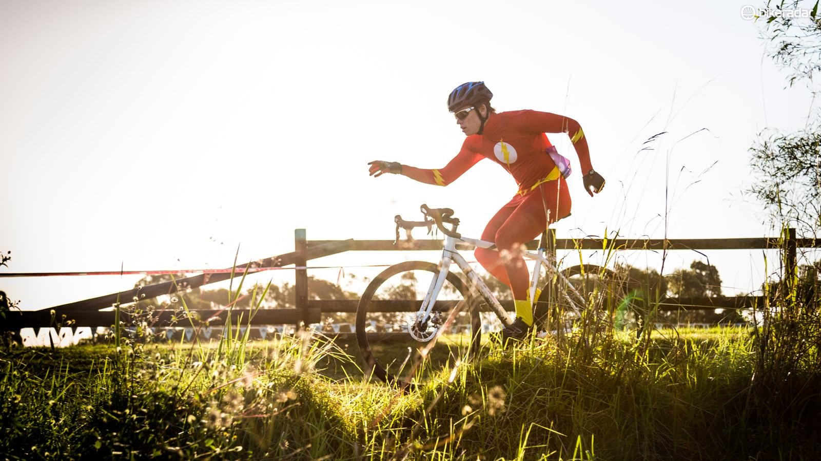 The Flash does occasionally make an appearance at your local cyclocross race