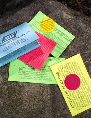 Of any cycling brand, Speedplay is the best at yelling in paper form