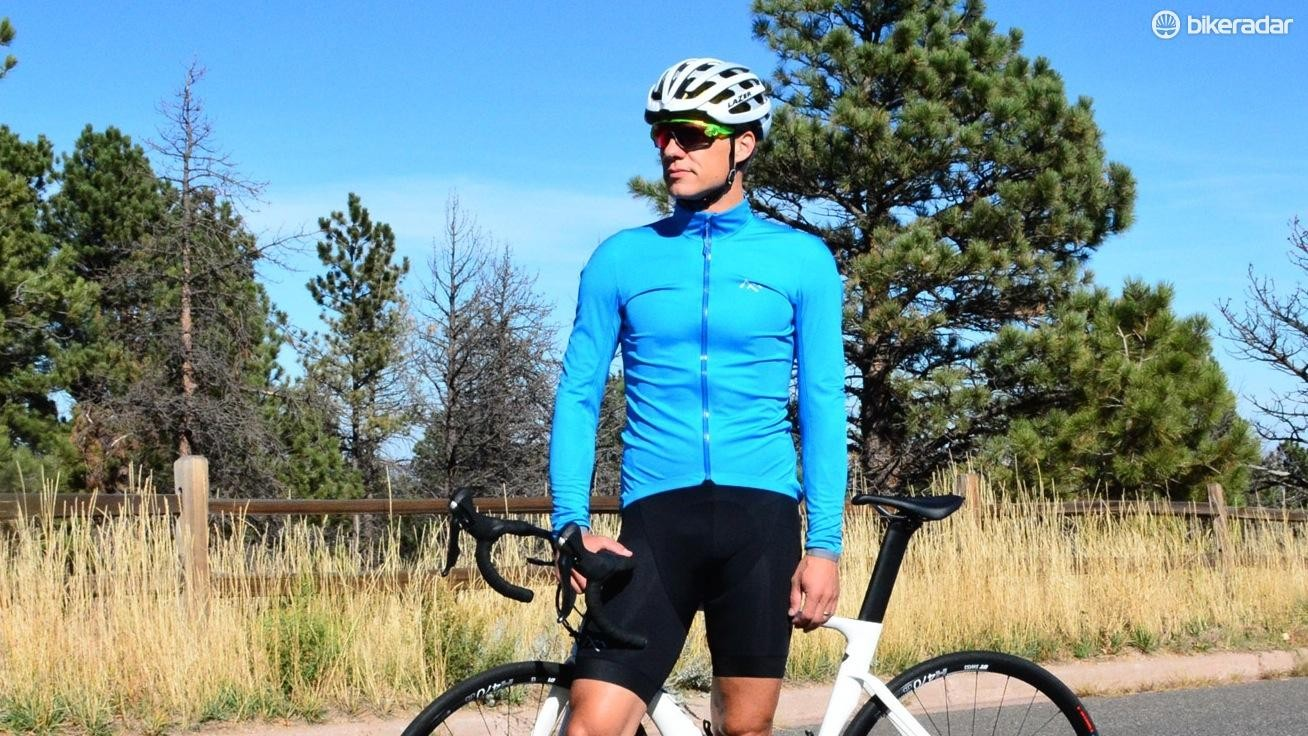 The 7Mesh Corsa Softshell Jersey is basically a thin jacket that fits like a jersey