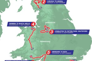 Here's the map for the 2016 Tour of Britain