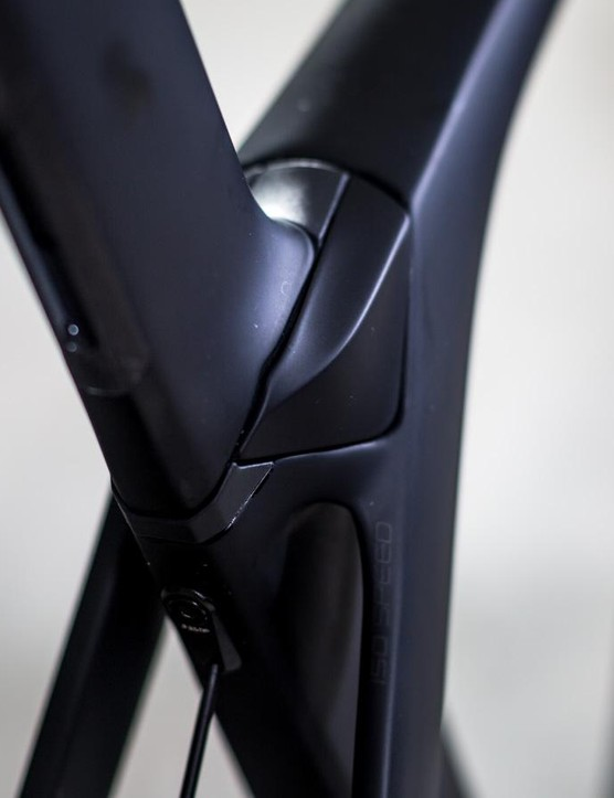 Borrowed from the endurance oriented Domane, the Madone receives the IsoSpeed decoupler