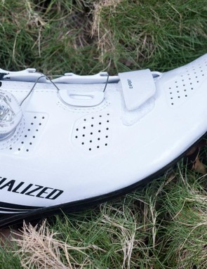 Perforations cover the majority of the upper and allow the shoe to breathe well