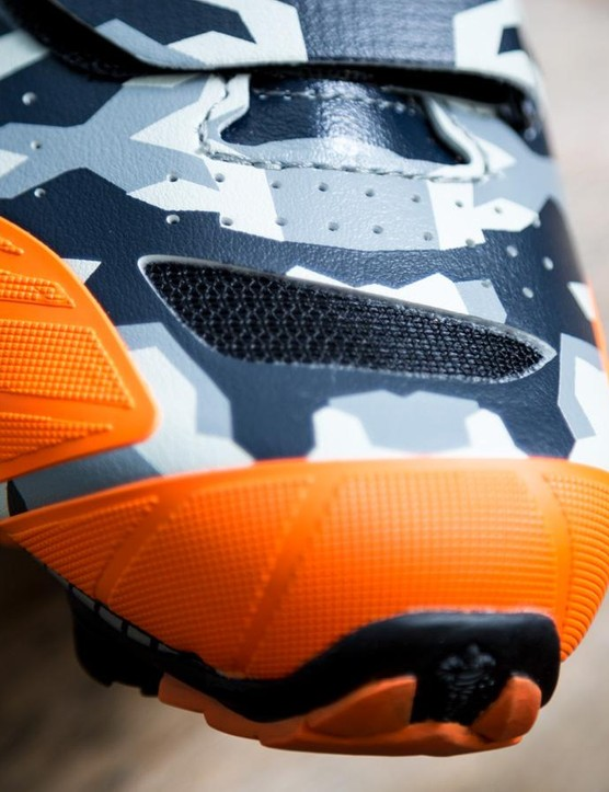The whole shoe is perforated and there are a couple of mesh vents as well