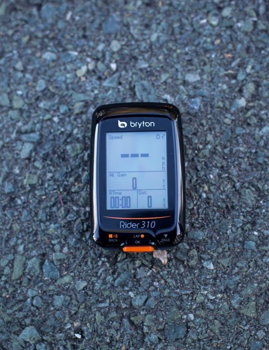 The unit is GPS-enabled so you don't need any external sensors